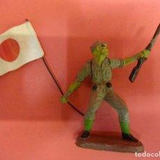 Figuras de Goma y PVC: SOLDADOS JAPONESES II GUERRA MUNDIAL. PECH HNOS. GOMA 60 MM. Lote 140760078