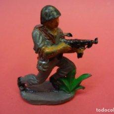 Figuras de Goma y PVC: AMERICANOS EN COMBATE II GUERRA MUNDIAL. PECH HNOS. GOMA 60 MM. Lote 140765098