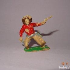Figuras de Goma y PVC: ANTIGUO VAQUERO COW BOY EN PLÁSTICO PINTADO A MANO DE JECSAN - TIPO PECH - REAMSA - COMANSI. Lote 140779574