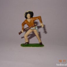 Figuras de Goma y PVC: ANTIGUO VAQUERO COW BOY EN PLÁSTICO PINTADO A MANO DE JECSAN - TIPO PECH - REAMSA - COMANSI. Lote 140779826