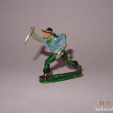 Figuras de Goma y PVC: ANTIGUO VAQUERO COW BOY EN PLÁSTICO PINTADO A MANO DE JECSAN - TIPO PECH - REAMSA - COMANSI. Lote 140781370