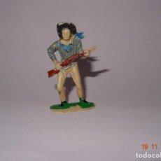 Figuras de Goma y PVC: ANTIGUO VAQUERO COW BOY EN PLÁSTICO PINTADO A MANO DE JECSAN - TIPO PECH - REAMSA - COMANSI. Lote 140781606