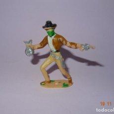 Figuras de Goma y PVC: ANTIGUO VAQUERO COWBOY EN PLÁSTICO PINTADO A MANO DE COMANSI - TIPO PECH - REAMSA - JECSAN. Lote 140782942