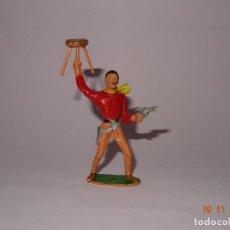 Figuras de Goma y PVC: ANTIGUO VAQUERO COWBOY EN PLÁSTICO PINTADO A MANO DE COMANSI - TIPO PECH - REAMSA - JECSAN. Lote 140783346