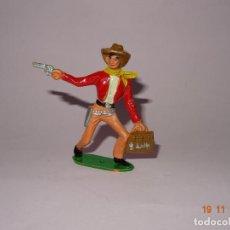 Figuras de Goma y PVC: ANTIGUO VAQUERO COWBOY EN PLÁSTICO PINTADO A MANO DE COMANSI - TIPO PECH - REAMSA - JECSAN. Lote 140783602