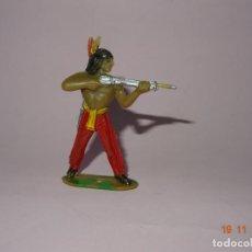 Figuras de Goma y PVC: ANTIGUO VAQUERO COWBOY EN PLÁSTICO PINTADO A MANO DE COMANSI - TIPO PECH - REAMSA - JECSAN. Lote 140784214