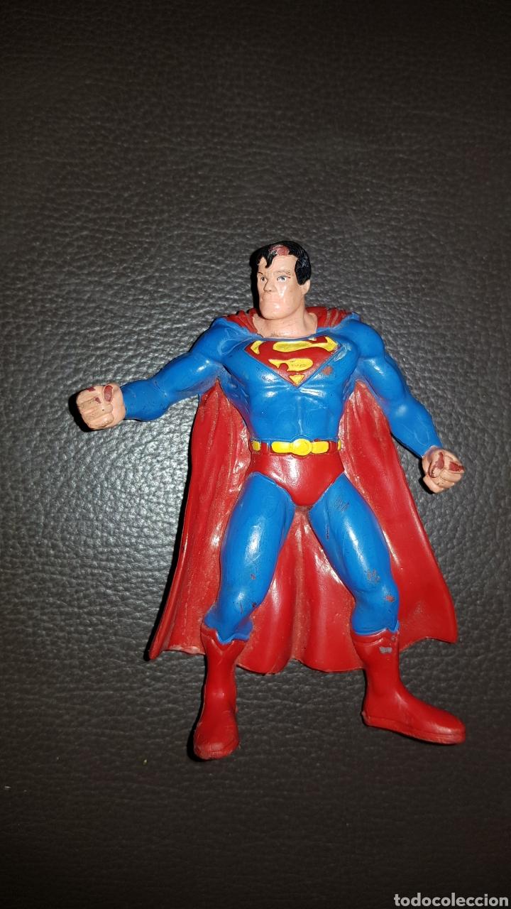 FIGURA PVC SUPERMAN CÓMICS SPAIN GOMA (Juguetes - Figuras de Goma y Pvc - Comics Spain)