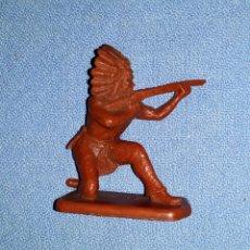 Figuras de Goma y PVC: INDIO DE PLASTICO FIGURA PROMOCIONAL DE KELLOGGS EN MUY BUEN ESTADO VER FOTOS Y DESCRIPCION. Lote 141215798