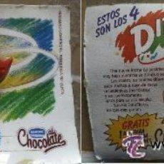 Figuras de Goma y PVC: UNICA COLECCIONISTAS BLISTER JUGUETE FIGURA AÑOS 90 DIBUFIERAS DANONE PETIT SUISSE . Lote 141222870