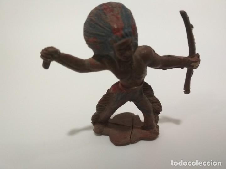 INDIO EN GOMA AÑOS 50 (Juguetes - Figuras de Goma y Pvc - Capell)