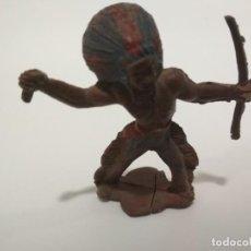 Figuras de Goma y PVC: INDIO EN GOMA AÑOS 50. Lote 141357378