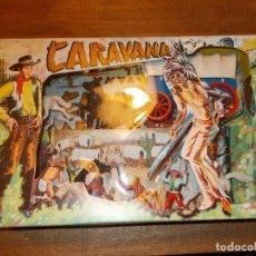 Figuras de Goma y PVC: CARAVANA DEL OESTE SOTORRES EN CAJA A ESTRENAR.ORIGINAL AÑOS 60/70. NO JECSAN,PECH COMANSI.PTOY. Lote 143203341