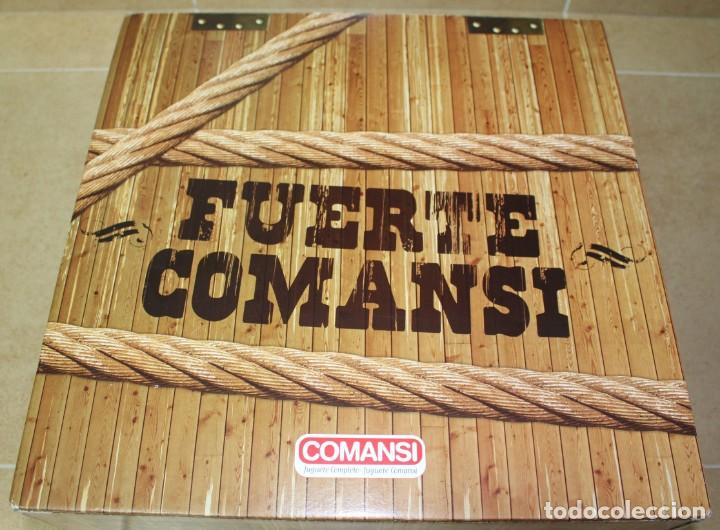 CAJA FUERTE COMANSI NUEVA CON INDIOS, VAQUEROS Y FEDERALES (Juguetes - Figuras de Goma y Pvc - Comansi y Novolinea)