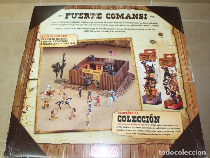 Figuras de Goma y PVC: CAJA FUERTE COMANSI NUEVA CON INDIOS, VAQUEROS Y FEDERALES - Foto 2 - 141660982