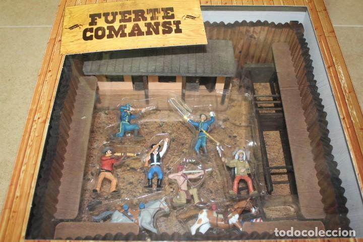 Figuras de Goma y PVC: CAJA FUERTE COMANSI NUEVA CON INDIOS, VAQUEROS Y FEDERALES - Foto 3 - 141660982