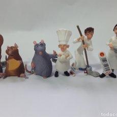 Figuras de Goma y PVC: SERIE COMPLETA DE 6 FIGURAS DE PVC DE RATATOUILLE - BULLYLAND. NUEVAS CON ETIQUETAS. Lote 142890009