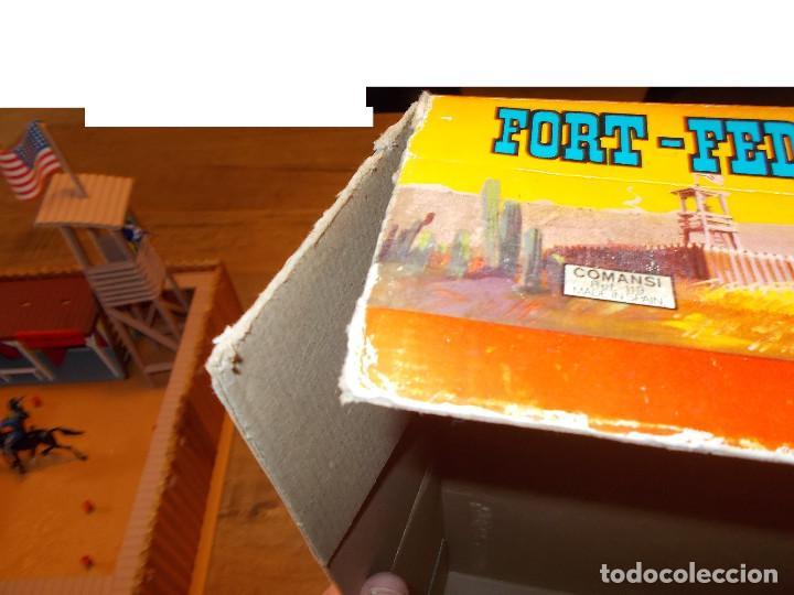 Figuras de Goma y PVC: COMANSI FORT FEDERAL EN CAJA REF. 119 MADERA Y PLÁSTICO SOLDADOS COWBOY FUERTE OESTE AÑOS 70/80.PTOY - Foto 11 - 141951874