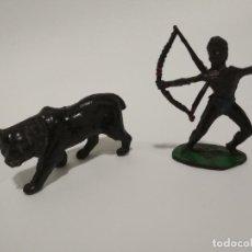 Figuras de Goma y PVC: FIGURAS ÁFRICA SALVAJE GOMA LAFREDO. Lote 142104638