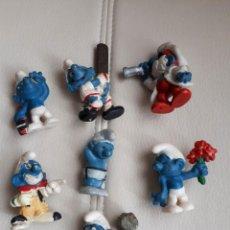 Figuras de Goma y PVC: LOTE DE PITUFOS AÑOS 80. Lote 142111594