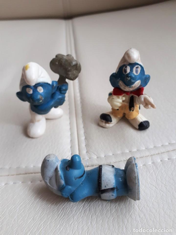 Figuras de Goma y PVC: LOTE DE PITUFOS AÑOS 80 - Foto 4 - 142111594