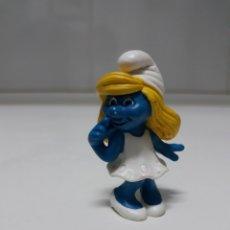 Figuras de Goma y PVC: FIGURA GOMA PITUFINA DE SCHLEICH. Lote 142153821