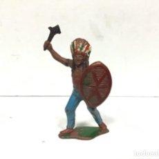 Figuras de Goma y PVC: FIGURA INDIO TEIXIDO GOMA OESTE INDIOS TEIXIDOR GOMA WESTERN. Lote 142287234