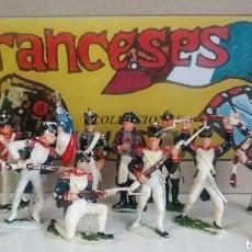 Figuras de Goma y PVC: TROPAS NAPOLEÓNICAS, JECSAN ED. 1964, SERIE COMPLETA A PIE. INFANTERIA FRANCESA GUERRA INDEPENDENCIA. Lote 142337017