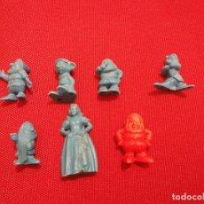 Figuras de Goma y PVC: 7 FIGURAS DUNKIN BLANCANIEVES Y LOS 7 ENANITOS DIFERENTES. Lote 142382990