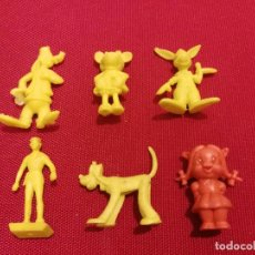 Figuras de Goma y PVC: 6 FIGURAS DUNKIN DIFERENTES PLUTO, GOOFIE, MINNIE MAUSE, ETC. Lote 142383566