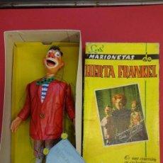 Figuras de Goma y PVC: LAS MARIONETAS DE HERTA FRANKEL: TONTO. EN CAJA ORIGINAL. NO JUGADO. ESTEREOPLAST. Lote 142407050