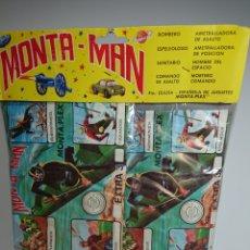 Figuras de Goma y PVC: 10 SOBRES MONTAPLEX MONTA-MAN BLISTER BOLSA SIN ABRIR MONTAMAN EXTRA 3 SORPRESA. Lote 142413405