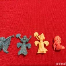 Figuras de Goma y PVC: 4 FIGURAS ASTERIX DUNKIN DARGAUD CLEOPATRA DIFERENTES. . Lote 142459094