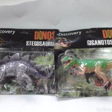 Figuras de Goma y PVC: LOTE 2 DINOSAURIO DISCOVERY MUÑECO ARTICULADO DINOS ASOMBROSOS Y ANIMALES PREHISTÓRICOS. Lote 142560778