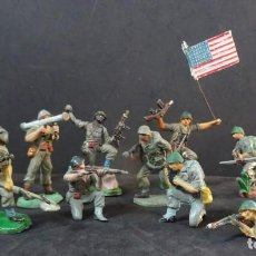 Figuras de Goma y PVC: PECH MARINES,AMERICANOS GOMA SERIE COMPLETA. Lote 142571462