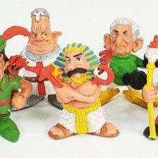Figuras de Goma y PVC: 10 FIGURAS DE PVC. SERIE LOS MONCLIS. GALLEGO Y REY. STAR TOYS. AÑOS 80/90.. Lote 142673378