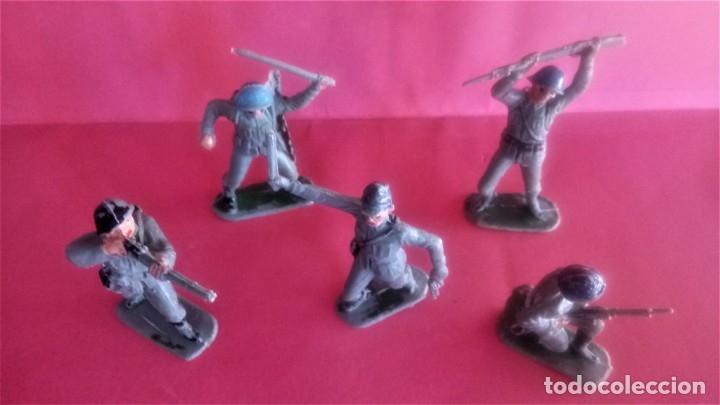 Figuras de Goma y PVC: PATRULLA SOLDADOS JAPONESES,JECSAN ?,AÑOS 70 OFICIAL Y TROPA,NO PECH,REAMSA,COMANSI,SELVA,JAPON - Foto 2 - 142775834