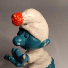 Figure di Gomma e PVC: PITUFO DORMILÓN SCHLEICH SONÁMBULO - PEYO - SMURF - THE SMURFS - SLEEPY - SLEEPWALKER - LAZY. Lote 142971354