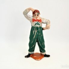 Figuras de Goma y PVC: FIGURA DEL CIRCO . ARCHER. PAYASO PENSADOR. AÑOS 50. GOMA. VER FOTOS.. Lote 55148744