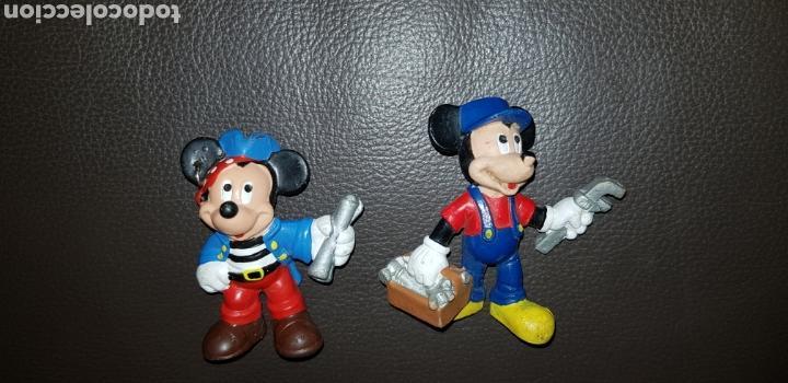 LOTE 2 FIGURAS PVC MICKEY Y MINNIE BULLYLAND (Juguetes - Figuras de Goma y Pvc - Bully)