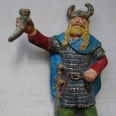 Figuras de Goma y PVC: RARA FIGURA PLÁSTICO PVC EDAD MEDIA MEDIEVAL VIKINGO BULLYLAND MADE IN GERMANY. Lote 143104534