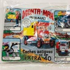 Figuras de Goma y PVC: SOBRE MONTA-MAN RENAULT COCHES ANTIGUOS EXTRA 40. Lote 143108945