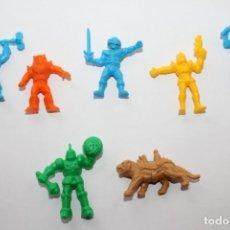 Figuras de Goma y PVC: DUNKIN 7 FIGURAS HEMAN MASTER DEL UNIVERSO. Lote 143136046