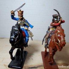 Figuras de Goma y PVC: SOLDADOS DE PLASTICO JINETES HUSARES PRUSIANOS CALL TO ARMS. Lote 143180878