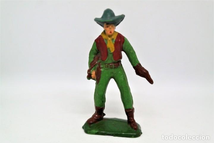 Figuras de Goma y PVC: Antigua Figura del Oeste Vaquero. Starlux - Foto 2 - 54427610