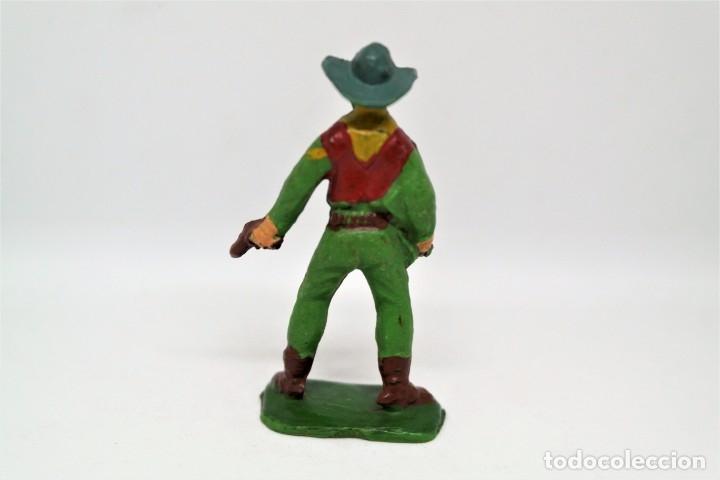 Figuras de Goma y PVC: Antigua Figura del Oeste Vaquero. Starlux - Foto 3 - 54427610