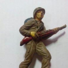 Figuras de Goma y PVC: FIGURA SOLDADO DE GOMA JECSAN RIO KWAI. Lote 143335856