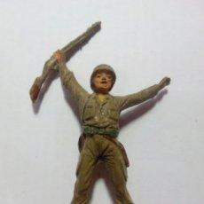 Figuras de Goma y PVC: FIGURA SOLDADO DE GOMA JECSAN RIO KWAI. Lote 143336558