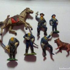 Figuras de Goma y PVC: DESCABEZADOS RIN TIN TIN Y EL CABO RUSTY DE GOMA JECSAN. Lote 143337065