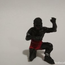 Figuras de Goma y PVC: FIGURA NEGRO AFRICA SALVAJE JECSAN. Lote 143343866