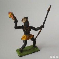 Figuras de Goma y PVC: FIGURA NEGRO AFRICANO PLÁSTICO 60MM. Lote 143344150
